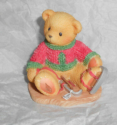 Enesco CHERISHED TEDDIES 546534 JEROME Friendship Skate Bear Christmas Figurine