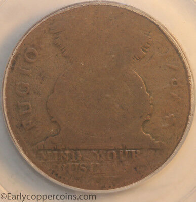 1787 Fugio Cent N1-B W6600 Cross After Date PCGS G4 CAC Starts 1C NO RESERVE!