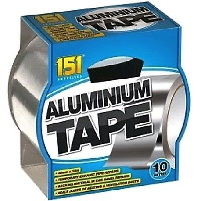 Aluminium Tape Adhesive Strong And Reliable. Heat Proof. Exhaust Pipe Repair. 2M