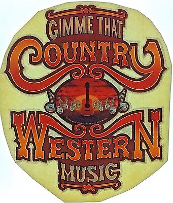 Original Gimme that Country Western Music Iron On Transfer