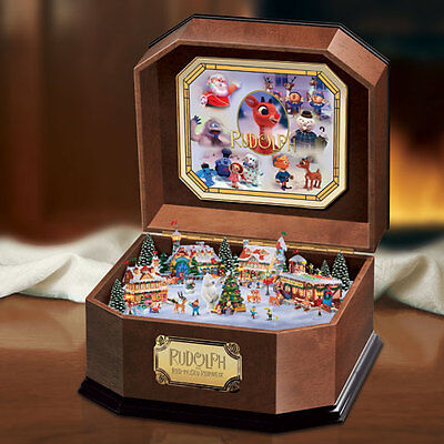Rudolph the Red Nosed Reindeer Christmas Music Box  Bradford Exchange