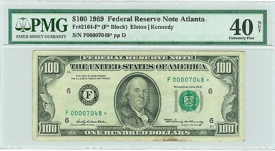 Fr#2164-F* 1969 $100 Scarce Atlanta Star Pmg Xf 40 Great Star Note!