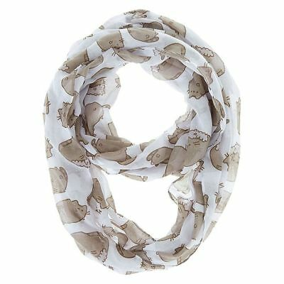 NWT Claire's Pusheen Cat Infinity Loop Scarf GRAY