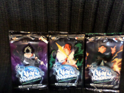 Lot Of 3 YU yu Hakusho Booster Packs Ghost Files Factory Sealed 2 Rare Cards PK.