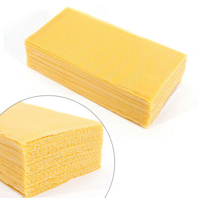 "30 Pack 7.7*16.3"" Honeycomb Wax Frames Beekeeping Foundation Honey Bee Hive Tool"
