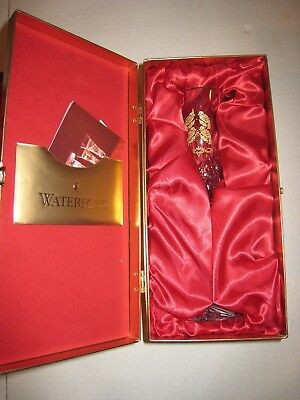 Waterford Crystal Lismore Four Calling Birds Champagne Flute 12 Days Christmas