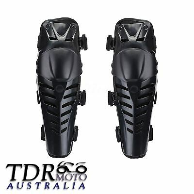 New Pair Motorcycle Racing Protective Gear Motocross Knee Protector Guards Black