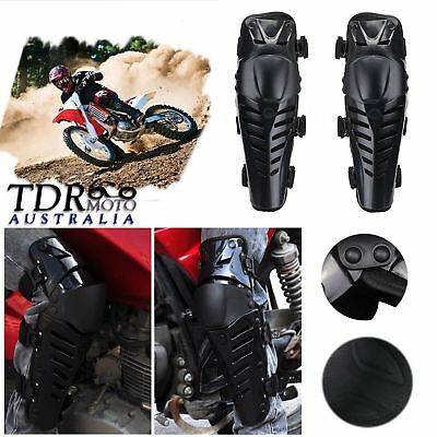 Black Motorcycle Racing Riding Knee Guards Protective Pads Armor Off-Road Gear