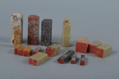 M4478: Chinese Stone Chop stamp material SEALS Bundle sale Calligraphy tool.