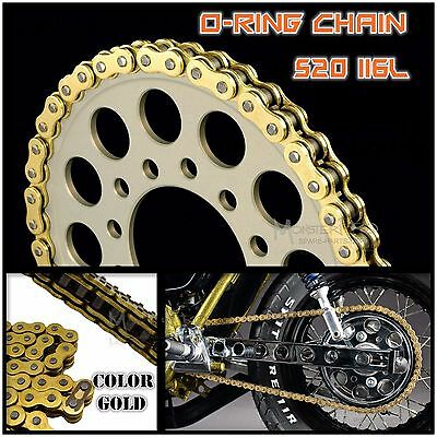 Heavy Duty 120 L O-Ring 520 Drive Chain for Honda CR125R CRF250R CRF250X CR450R