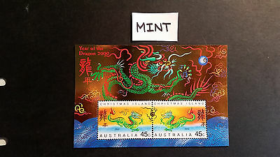 No-4--2000   YEAR  OF THE DRAGON    - MINI  SHEET  MINT --NOT  HINDGED