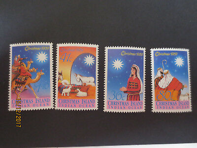no--1-- 1989  CHRISTMAS  ISLAND  CHRISTMAS   ISSUE'S  4  STAMPS-MINT