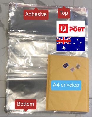 20X Extra Large 50x69cm Seal Self Adhesive Clear opp Plastic Bags T-shirt Cloth