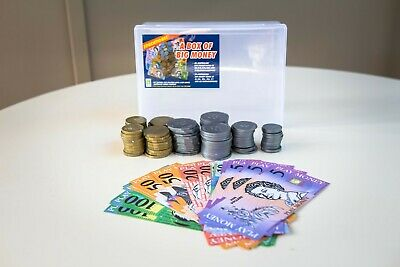 Brand New Box of Big Australian Play Money 20 Notes & 84 Coins Australia