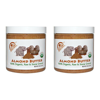 2X Dastony 100% Organic Almond Butter Raw Stone Ground Smooth Non Gmo Bpa Free