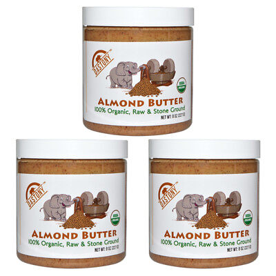 3X Dastony 100% Organic Almond Butter Raw Stone Ground Smooth Non Gmo Bpa Free