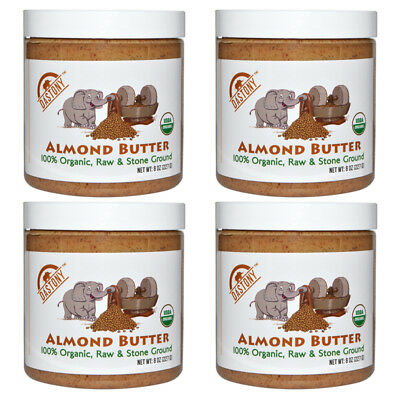 4X Dastony 100% Organic Almond Butter Raw Stone Ground Smooth Non Gmo Bpa Free