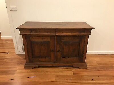 Solid rustic timber buffet
