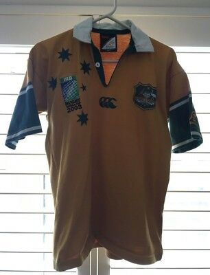 Wallabies supporters polo shirt from RWC 2003 in mens size small