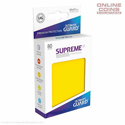 Ultimate Guard SUPREME UX High Quality Card Sleeves - YELLOW - Pokemon MTG