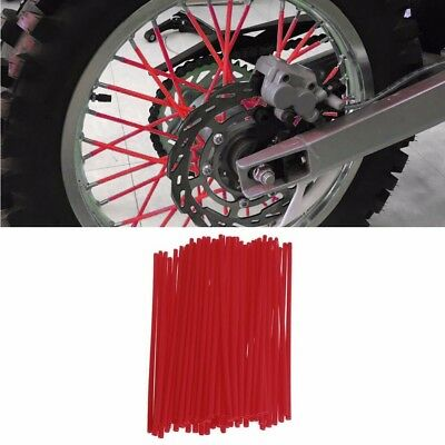 RED 72Pcs Spoke Guard Wrap Covers For 18 to 21 inch spoked wheels Motorcycle
