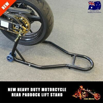 NEW Motorcycle Motorbike Rear Stand Paddock Race Lift Under Fork Bike Holder AU