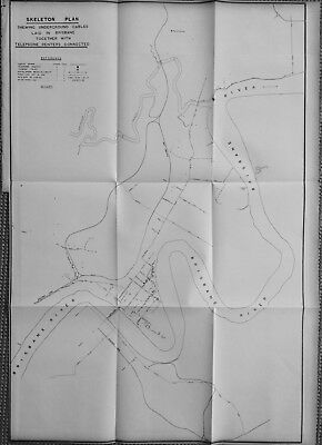 Large Scale Original Map of the Brisbane Queensland Telephone Network in 1900
