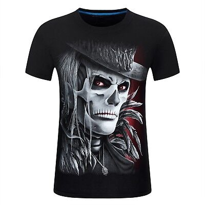 Us New Fashion 3D Print Black Clown / Joker Men/Women Short T-Shirt Usa Shipping