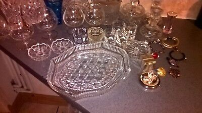Assorted vintage Baccarat crystal and art glass