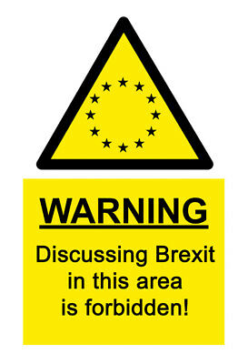 A5 Comedy Office BREXIT Sticker- Argument Brussels Remain Leave EU UK Parliament