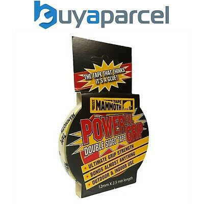 Everbuild Mammoth Powerfull Grip Double Sided Tape Extra Strong 12MM Sellotape