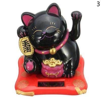 Feng Shui New Chinese Lucky Waving Gold Cat Figure Moving Arm in Colourful Box &