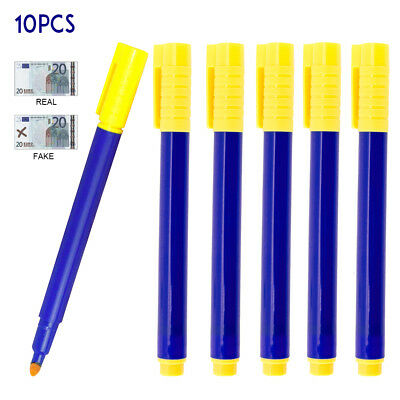 10PC Counterfeit Note Checker Money Tester Pen Fake Forged Banknote Detector UK