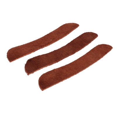 3Pcs Celluloid Erhu Corner Piece Erhu Protective Parts for Erhu Player Brown