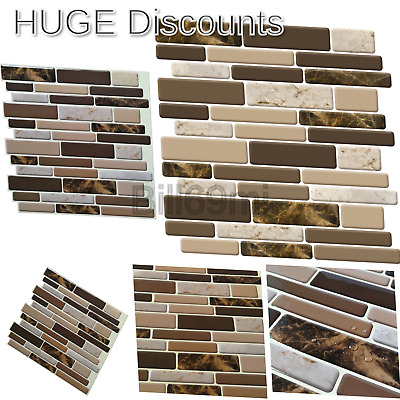 Marble 6 PACK 12x12 Self Adhesive Wall Tile Peel /& Stick Backsplash For Kitchen