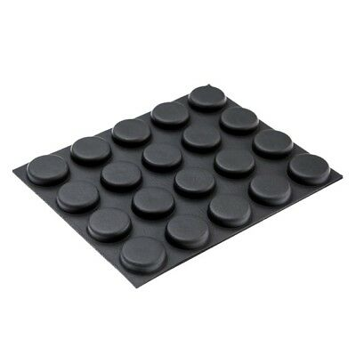 20x Round Shaped Sticky Rubber Feet Black Foot for Laptop Tablet Worktop RF03S