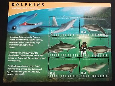 PNG 2003 Endangered Dolphins m/s  MUH  d16