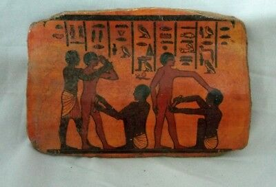RARE ANCIENT EGYPTIAN ANTIQUE POTTERY FRAGMENT Circumcision of Males in Egypt