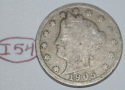 United States 1905 Liberty Head Nickel USA 5 Cents Coin Lot #I54