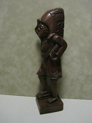Carved Wooden Figure of  Indian Chief standing looking forward Unknown Artist