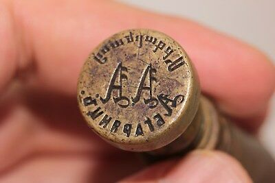 Antique Original Brass Armenian Written Amazing Seal