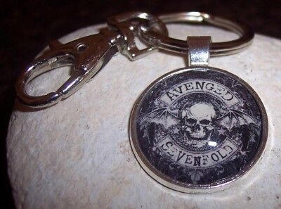 Handmade Avenged Sevenfold Metal Band Keychain - Stainless Steel Key Ring