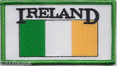 Ireland Script Rectangular Flag Embroidered Patch Badge