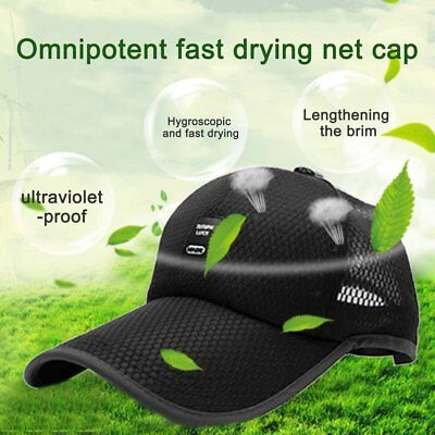 Unisex Sports Cap Outdoor Baseball Cap Long Visor Breathable Mesh Sunshade Hat G
