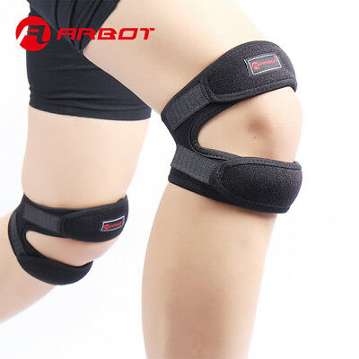 2x Knee Support Brace Open Patella Running Strap Injury Pain Relief Adjustable