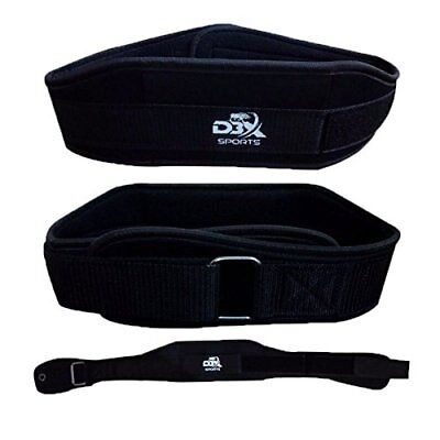 """D3 X 4"""" Weight Lifting Gym Belt Strap Training Back Support Exercise Fitness"""