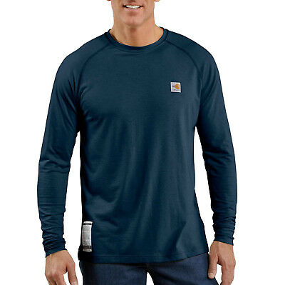 CARHARTT Flame Resistant ForceCotton Navy L-Sleeve T-Shirt (Size 4-XL)