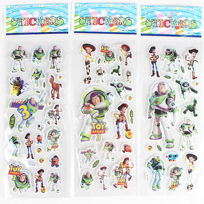 10 x TOY STORY  Sticker strips for Party Bag Fillers Birthday,  party favours