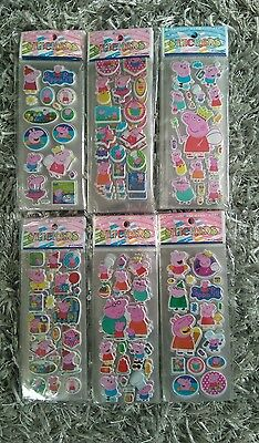 10 x peppa pig Sticker strips - Party Bag Fillers Birthday party favours, games