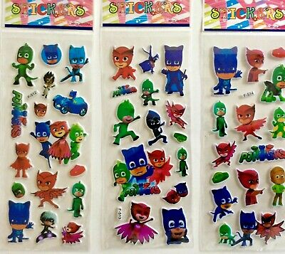 10 x PJ MASK Sticker strips, Party Bag Fillers Birthday party favours games